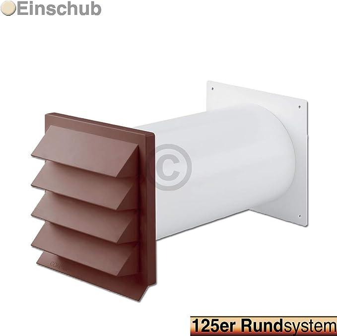 TronicXL - Pasador universal para pared (125 mm, para campana extractora, secadora, aire acondicionado), color marrón: Amazon.es: Grandes electrodomésticos