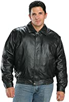 USA Leather Classic Mens Leather Bomber Jacket