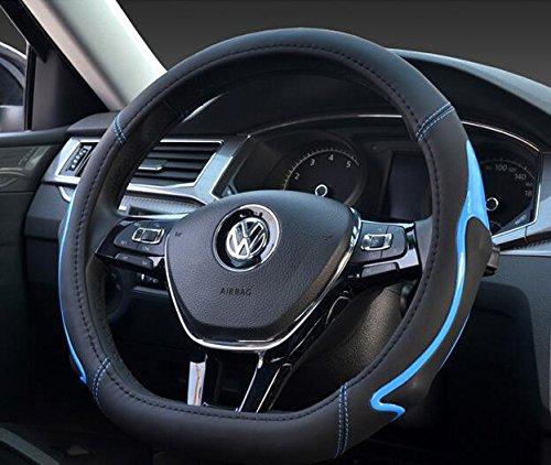 Rial Wheels - CALAP-STORE - Fashion creative car steering wheel cover Fiber leather material Style D Diameter 38cm Non-slip four seasons car steering