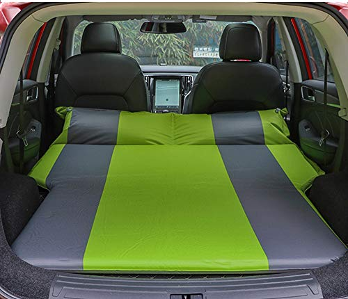 Weastion SUV Car Inflatable Bed Air Mattress Car Cushion Trunk Travel Pad Car Sleeping Mat Built-in High-Elastic Sponge  Automatic Inflation  Self-Driving Travel Wild Camping Green