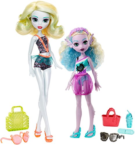 Monster High Monster Family Lagoona Blue and Kelpie Blue Dolls, 2 Pack]()