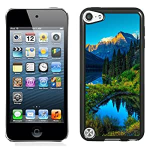 Fashionable Custom Designed iPod Touch 5 Phone Case With HDR Mountains Lake Forest_Black Phone Case