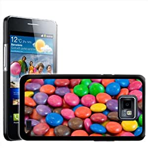 Fancy A Snuggle - Carcasa rígida para Samsung Galaxy S2 i9100, diseño de caramelos de chocolate
