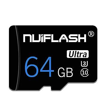 y2y3zfal NUIFLASH 4/8/16/32/64 / 128GB Tarjeta De Memoria TF De Datos C10 De Alta Velocidad para Tableta De Teléfono 64GB