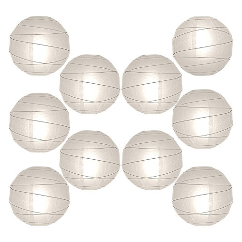 12-Paper-Lanterns-Decor-Value-Pack-10-Round-White-Hanging-Orbs-for-Decorating-Weddings-Parties-Special-Event-Venues