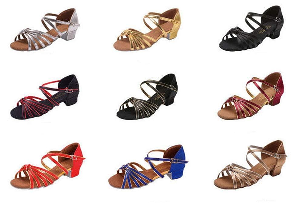 Black-EU 36//4 M US Big Kid Little Girls Dress Shoes Ballet Flats