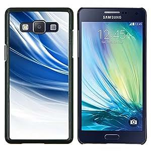 KLONGSHOP // Cubierta de piel con cierre a presión Shell trasero duro de goma Protección Caso - El azul remolina - Samsung Galaxy A5 A5000 //