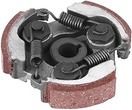 Auped Embrague centr/ífugo Bloc de embrague para motocicleta con 3 muelles para 2 tiempos 47 cc 49 cc Mini Quad Pocket Bike Dirt Bike ATV Scooter . Rojo