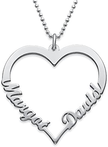 Personalized Name Necklace Heart Necklace Custom Any Name Necklace Pendant for Lover Friend gift