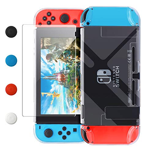 Dockable Case Compatible with Nintendo Switch,FYOUNG Protective Accessories Cover Case Compatible with Nintendo Switch and Nintendo Switch Joy-Con with a Tempered Glass Screen Protector - - Switch Cover