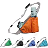 Multifunction Waist Bag Running Jogging Waterbottle Pack Trangle Pouch ( Sky Blue )