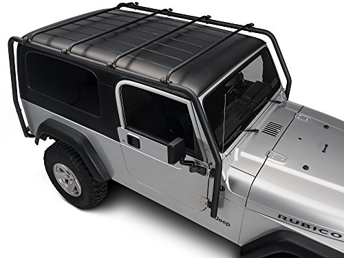 Barricade Roof Rack in Textured Black - Jeep Wrangler TJ Unlimited 2004-2006