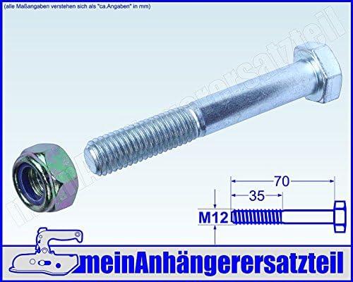 DERING Sechskantschrauben M12x70 DIN 933 Edelstahl A2 Sechskant-Schrauben 4 St/ück | Gewindeschrauben rostfrei