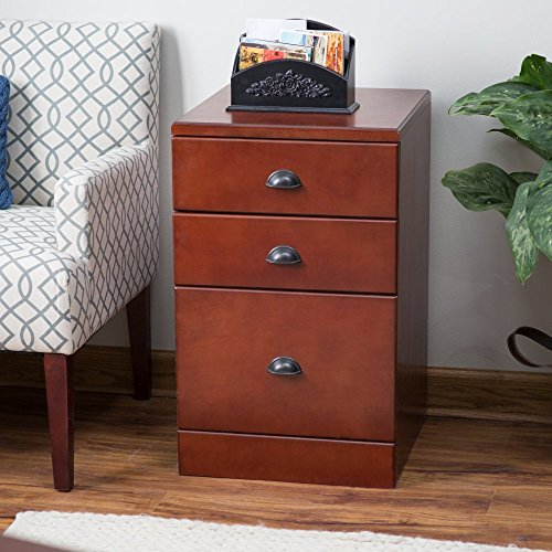 Belham Living Cambridge 3-Drawer Filing Cabinet - Rich Cherry by Belham Living