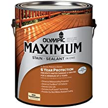 Olympic/Ppg Architectural Fin 79561A/01 Maximum Deck, Fence & Siding Stain & Sealant, Exterior, Semi-Transp - Quantity 4