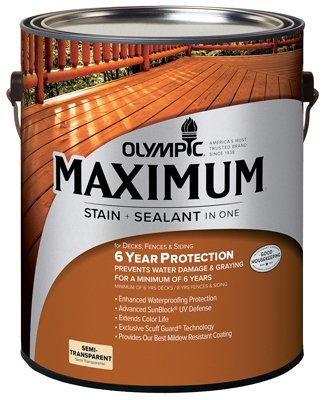OLYMPIC/PPG ARCHITECTURAL FIN 79561A/01 Max Semi Stain, 1 Gallon, Cedar ()
