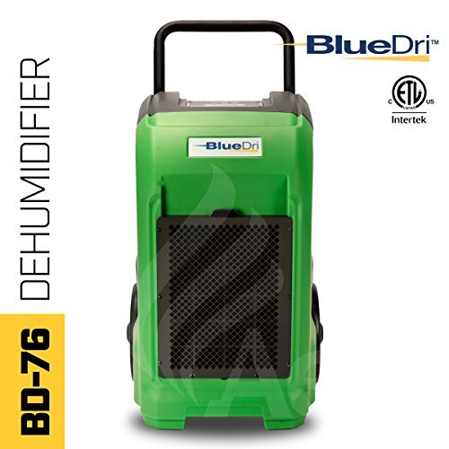 BlueDri BD-76-GREEN 76-Pint AHAM High Performance Commercial Dehumidifier, Green