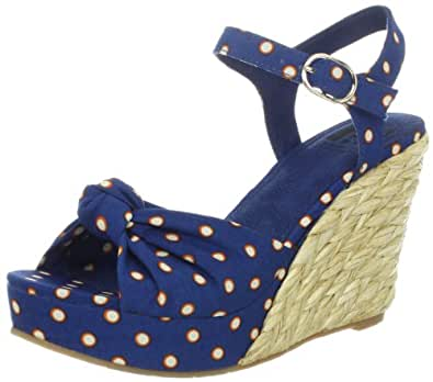BC Footwear Women's Light Of Day Wedge Sandal,Blue,8.5 M US