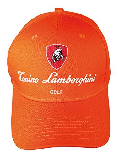 d5e24b65734 Tonino Lamborghini Unisex Adjustable Cotton Golf Cap (Orange)