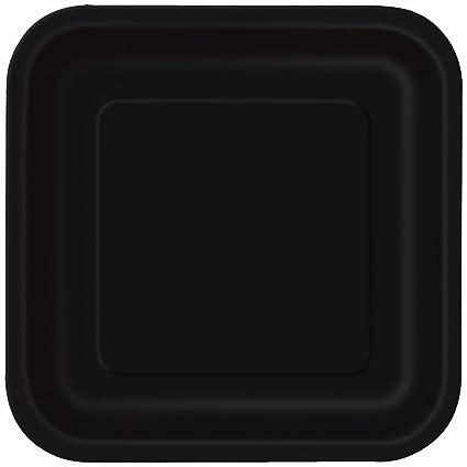 Square Black Paper Cake Plates 16ct  sc 1 st  Amazon.com & Amazon.com: Square Black Paper Cake Plates 16ct: Kitchen u0026 Dining