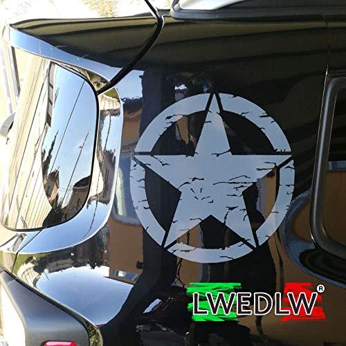 LWEDLW Nuova Generazione 2 Adesivi Stella Militare Diametro cm 28 US Army Jeep Renegade Suzuki Fuoristrada 4X4