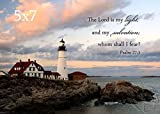 Lighthouse Photo with Psalm 27:1 ''The Lord is my Light''