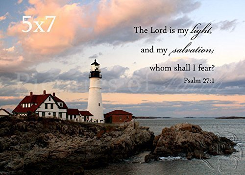 Lighthouse Photo with Psalm 27:1 ''The Lord is my Light'' by Pictures of Faith