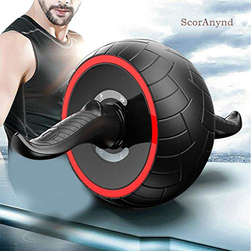 Swvzwy ScorAnynd Best Ab Roller Wheel,Abs Roller Kit Core Strength Roller Wheel Roller with Non-Slip Handles and Grey Kene Padding for Unisex Core Strength Exercise Gym Home Do it
