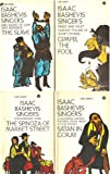 img - for 4 Volumes of Isaac Bashevis Singer : 1) The Spinoza of Market Street & Other Stories 2) Satan in Goray 3) The Slave: Epic Novel of Love & Bondage 4) Gimpel the Fool & Other Stories book / textbook / text book