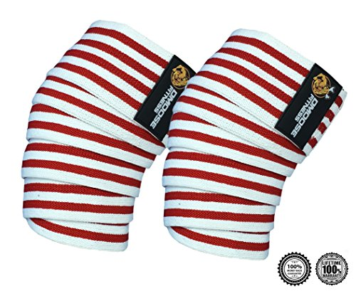 Knee Wraps by DMoose Fitness - Strong Velcro, Durable Stitching - Heavy (Elite Kold Knee Ice Wrap)