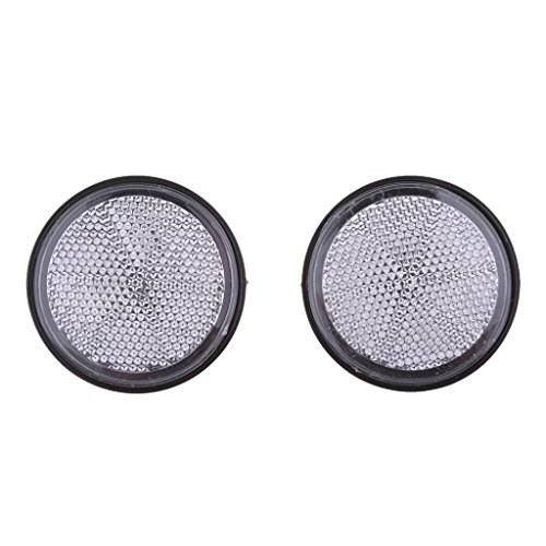 Baoblaze Plastic Round Reflective Warning Reflector Fits for Car Motorcycle Motor Bikes Bicycles ATV Dirt Bike - Silver by Baoblaze (Image #9)