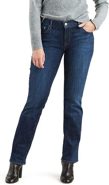 Amazon Com Levi S 505 Pantalones De Mezclilla De Corte Recto Para Mujer Clothing