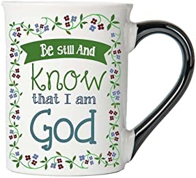 Be Still And Know That I Am God Mug, Inspirational Coffee Cup, Inspirational Mug, Ceramic Mug, Custom Inspirational Gifts By Tumbleweed