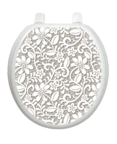 Lovely Lace Toilet Tattoo TT-1089-R Round Theme Elegant Cover Bathroom by Toilet Tattoo