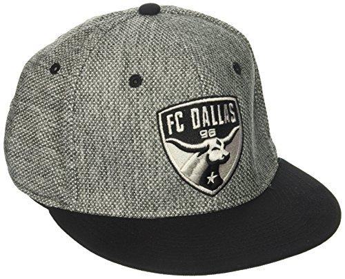 - adidas MLS Fc Dallas Men's Heathered Gray Fabric Flat Visor Flex Hat, Large/X-Large, Gray