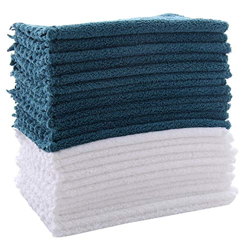 24 Pack Dishcloths - Substitute for Paper Towel -Extra Absorbent and Soft Wash Clothes for Kitchen - Super Absorbent Coral Fleece Cleaning Wipes