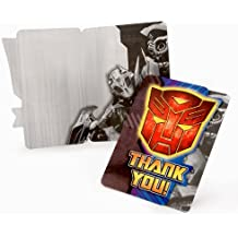 Transformers Revenge of the Fallen Thank You Cards (8 count)