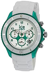 Ice Watch Men's White/Green Dial Silicone Band Watch - CH.WEM.BB.S.13