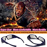 Carefully Designed Passive Circular Polarization 3D Glasses For Movies,Suitable For Polarizing(Non-Flash)3D Cinema Theater(RealD)2PACK