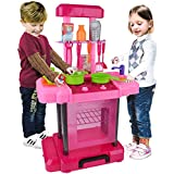 Outdoor Playset BFOEL Simulation Kitchen Appliance Oven Cooking Playset Custome DIY Toy / Lights And Sound For Little Chief,Kids and Toddlers