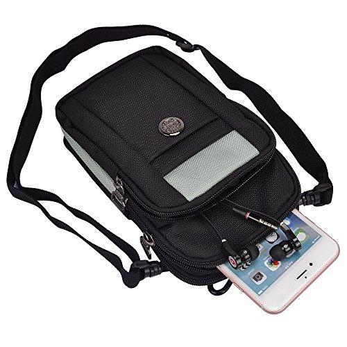 SumacLIfe Waist Packs Multifunction Outdoor Saddlebag Cross body Bag Case (Equestrian Saddlebag)
