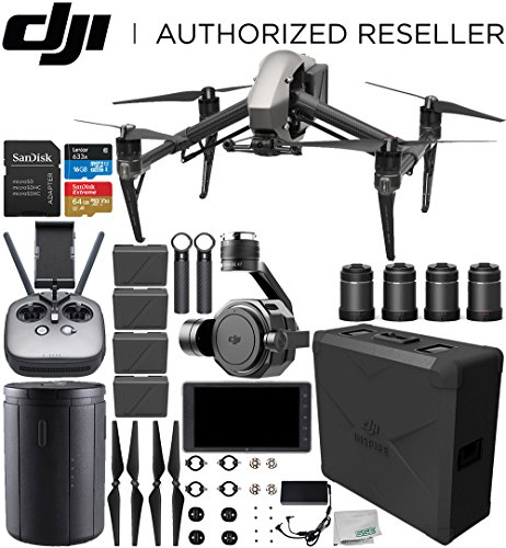 "DJI Inspire 2 Quadcopter with Zenmuse X7 + DJI CrystalSky 5.5"" High-Brightness Monitor + DL & DL-S Lens Set Ultimate Handheld Bundle"