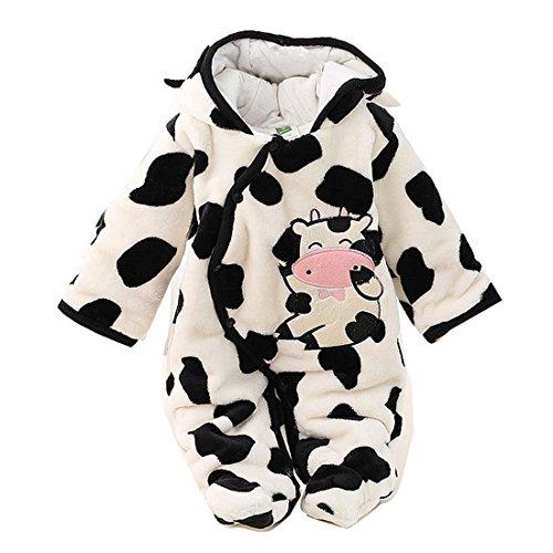 Gaorui Newborn Baby Jumpsuit Outfit Hoody Coat Winter Infant Rompers Toddler Clothing Bodysuit ()