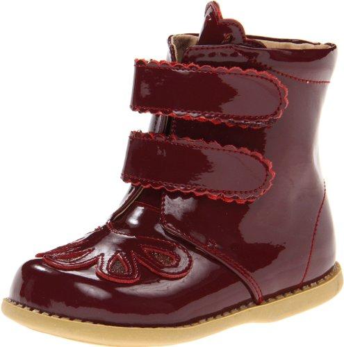Livie & Luca Floret Climbing Shoe (Toddler),Burgundy Patent,4 M US (Toddler Burgundy Patent Footwear)