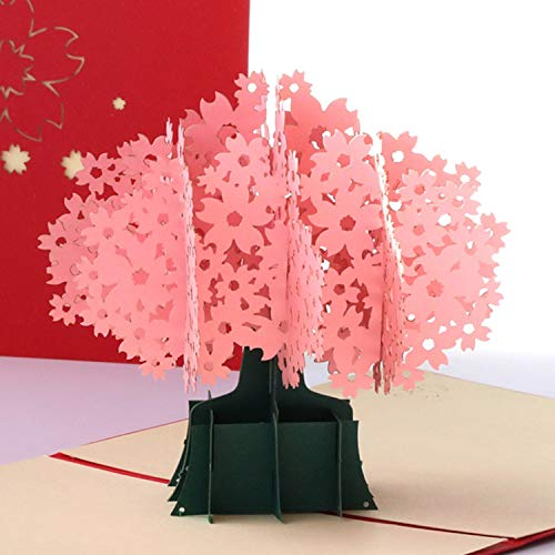Paper Spiritz Pop up Cards Christmas, Birthday, Flowers, Get Well, all Occasion for Kids (Sakura) -
