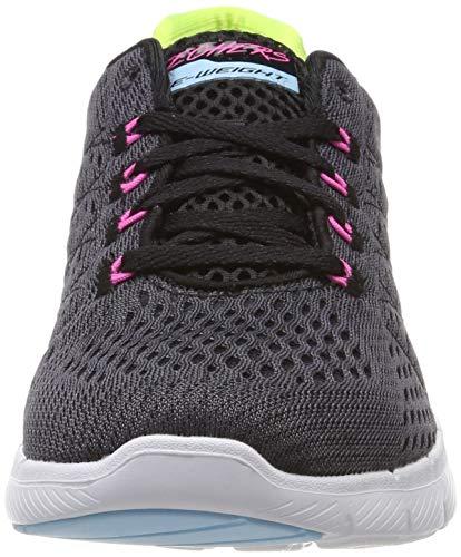 Skechers Mujer black 3 Multicolor Flex Appeal Para Multi Zapatillas 0 Bkmt rY8YnH