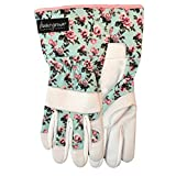 """Watson Gloves You Grow Girl Sustainable Garden Glove for Women - Eco-Friendly, Made of Recycled Products, Water Resistant Leather, Hooded Fingertips, Knuckle Bar, Snug-Fitting Elastic 3"""" Long Wrist, WasteNot Yarn (Small, 197)"""