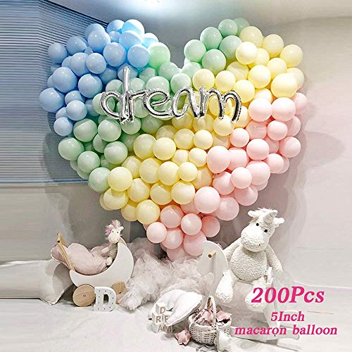 LAKIND 200pcs 5 Inch Mini Pastel Balloons Assorted