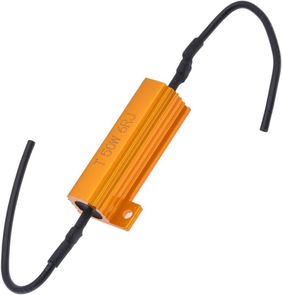 Resistenza carico resistenza 50 Watt 6 Ohm versione Socket FRECCE LED luci di retromarcia