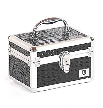 Urbanity Aluminium Makeup Cosmetics Vanity Case Beauty/Jewellery Box Leopard